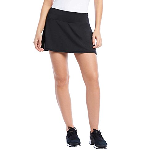 Danskin Ladies Active Golf Tennis Running Biking Everyday Athletic Skort - for Women and Girls - Choose Colors and Sizes (Medium, Black)