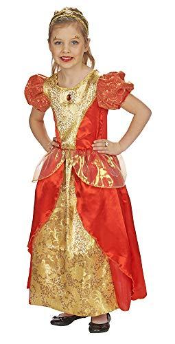 Rosenrot Märchen Kostüm für Kinder Gr. 152 - Schönes Kleid zu Karneval, Geburtstag oder Mottoparty