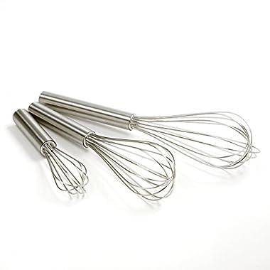 Norpro Balloon Wire Whisk Set of 3 Stainless Steel Stir/Mix/Beat 6 /8 /10