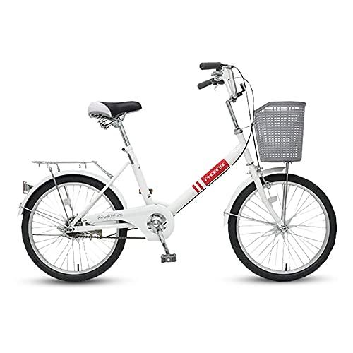 Bicicletas Retro, Bicicletas de CercaníAs, Llantas de 20 Pulgadas, Marco de Bajo Alcance de Acero con Alto Contenido de Carbono, Que Se Utilizan para Ir Al Trabajo, Disponibles para Hombres Y Muj
