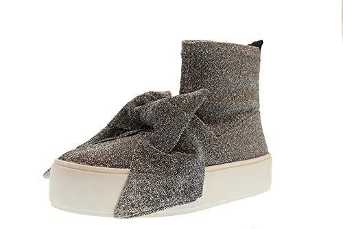 Apepazza Schuhe Frau Stiefelette mit Plattform ICW01 / Glitter ISIDE Silver Größe 36 Silver