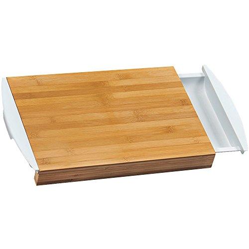 Kesper 58351Tagliere con Vaschette in bambù/Plastica, bambù, Marrone/Bianco, 41x 25x 4cm