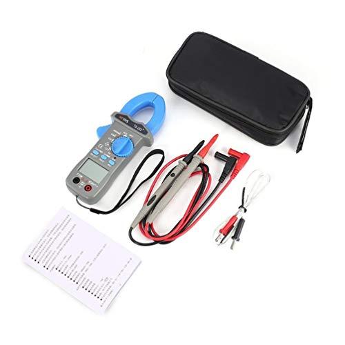 Medidor de Pinza Digital Hytais Ts202 + True Rms Multímetro Frecuencia Ncv Resistor Condensador Diodo Probador de Temperatura (Azul)