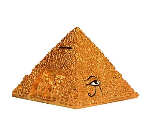 Mnjin Decoracin del hogar Pirmides Figurilla Modelo de Estatua, Pirmide egipcia Estatua egipcia Pirmide Caja del Tesoro Escultura Decoracin de Escritorio Decoracin de Hucha