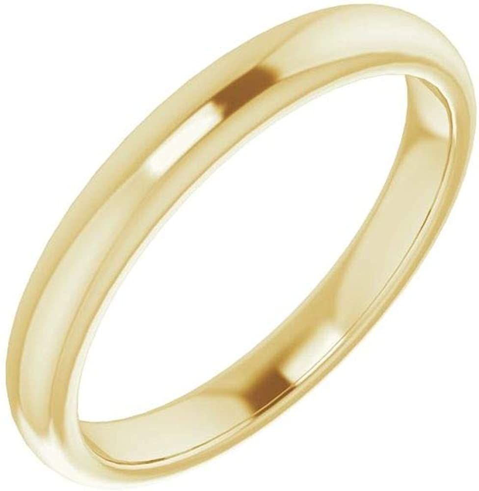 Solid 10K Yellow Gold Curved Notched 5 popular Band Cushio Ranking TOP1 5mm for Wedding