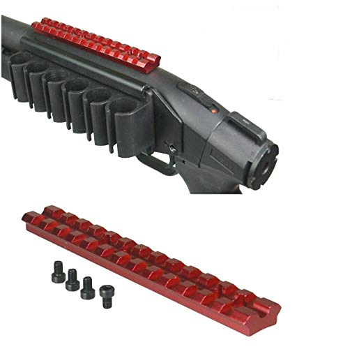 DB TAC INC Red Color Scope Sight Top Picatinny/Weaver Rail Mount Mossberg 500 590 Maverick 88