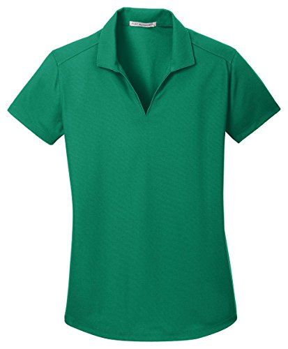 Port Authority Ladies Dry Zone Grid Polo, Jewel Green, Large