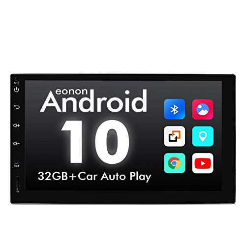 """eonon GA2180A Android 10 2Din GPS Navigation Quad-Core 7"""" IPS HD Touchscreen Car Stereo with Built-in Car Auto Play DSP Split Screen Multitasking Bluetooth RDS HeadUnit (NO CD/DVD)"""