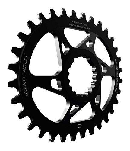Leonardi Factory Gecko Track Oval Cannondale Offset 0 Plato De Bicicleta, Hombre, Negro, 34