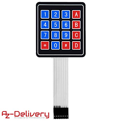 AZDelivery 4x4 Matrix Array Keypad Tastenfeld Tastatur kompatibel mit Arduino inklusive eBook!