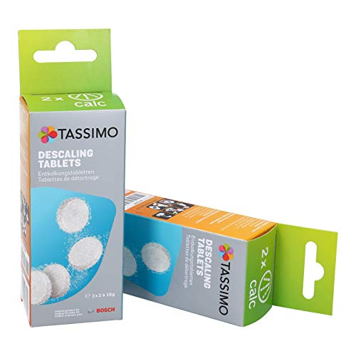 Tassimo Lot de 2 tablettes de détartrage pour machine...