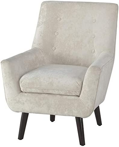 Best Signature Design by Ashley - Zossen Accent Chair - Contemporary Style - Ivory - Tufted Back