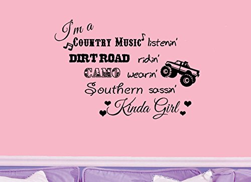 Im a Country Music Listenin Southern Sassin Sticker mural pour fille