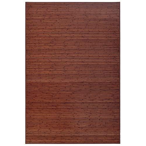 Alfombra Pasillera, Dormitorio o Salón de Madera Bambú(Nogal, 200 x 300 cm)