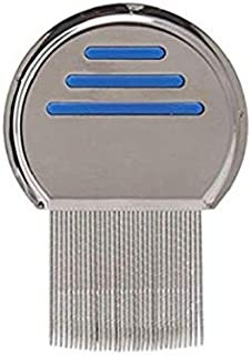 Stainless Steel Style Fine Tooth Lice Comb, Effective Treatment to Remove Head Lice and Nits in Kids or Adults