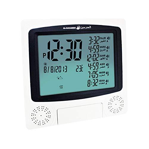 Muslim Azan Wecker mit großen LED-Indikatoren zur Wandmontage für den Schreibtisch/HA-4010 Rezo Islamische Uhr für Haus, Büro und die Mizquita Masjid