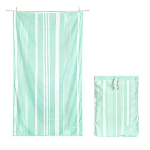 Dock & Bay Bath Towel - for Home - Quick Dry, Super Absorbent - Includes Bag - Eucalyptus Green, Hand (80x45cm, 31x17)
