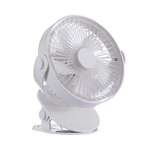 Ventilador eléctrico de Carga USB Gute Mute Mute DE MUDE DE Mudo Fan, con 5 velocidades de Control, Ventilador eléctrico, Liqingshangmao (Color : White)