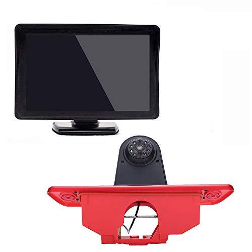〔Kit telecamera per retromarcia〕4.3'' Monitor LCD + Obiettivo da 12 mm CMOS Telecamera posteriore per auto HD 3° freno per Peugeot Expert/Fiat Scudo/Citroen Jumpy 2007 – 2016