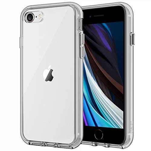 JETech Hülle Kompatibel iPhone SE 2020 (2. Generation), iPhone 8 und iPhone 7, Schutzhülle mit Anti-kratzt Transparente und Rückseite, Grau