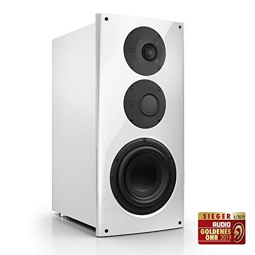 Nubert nuVero 60 Kompaktlautsprecher | High End Lautsprecher für Musikgenuss | HiFi Qualität auf höchstem Niveau | Passive Kompaktbox mit 3 Wege Technik Made in Germany | Lowboardbox Weiß | 1 Stück