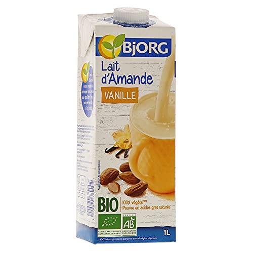 Bjorg Lait d'Amande Vanille Bio - 100% végétal - Pauvre en acides gras saturés - 1 L - Lot de 6