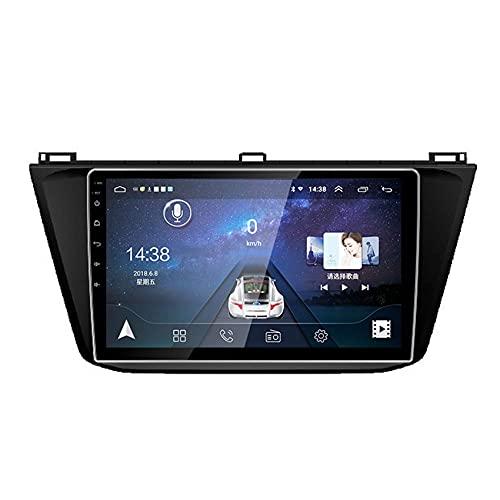 GTFHUH Autoradio con Schermo BT5.0 1280 QLED per VW Tiguan 2017, Supporto MP5/4 Player SWC Mirror Link Schermo Diviso Videocamera Vista Posteriore BT5.0 WiFi 4G/5G, WiFi + 4G