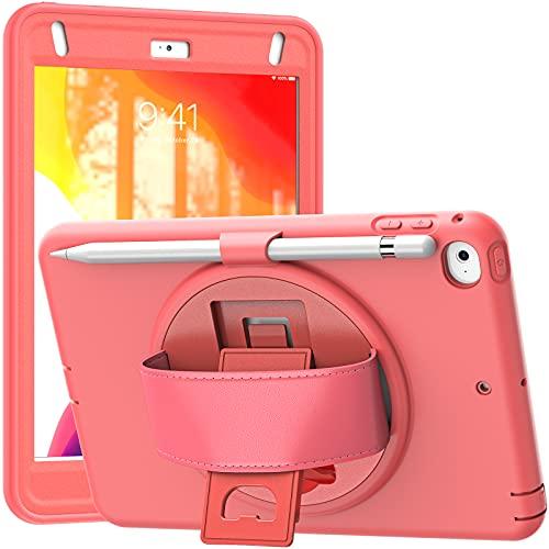 Funda para iPad Mini 5 2019 (5th Generation 7.9 Inch)/ iPad Mini 4 2015, Cubierta Protectora Completa a Prueba de Golpes de Tres Capa con 360° Rotativo Asa de Mano,A06