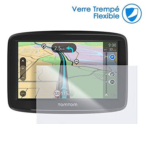 KARYLAX - Protector de pantalla de cristal flexible, dureza 9H, ultrafino 0,2 mm y 100% transparente para GPS Tomtom Via 62 (6 pulgadas)
