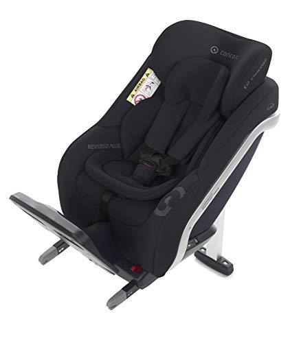 Concord Reverso Plus i-Size-Kindersitz, von 40 bis 105 cm, von 0 bis 4 Jahre, entgegen der Fahrtrichtung, Isofix, Stützfuß, Farbe Schwarz (SOFT BLACK)