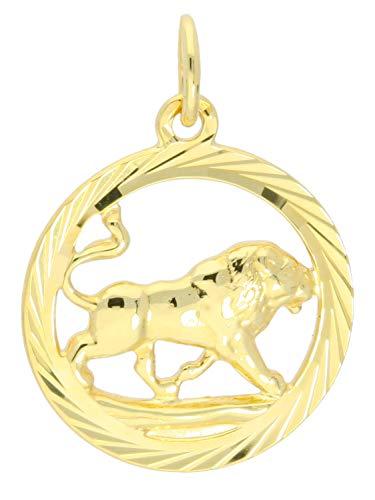 Löwe Anhänger in Gold