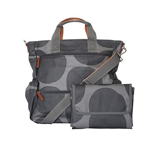 Wickeltasche für Zwillinge. Diese geräumige und multifunktionelle Wickeltasche lässt sich als Umhängetasche oder als Rucksack tragen und besitzt zusätzlich praktische Tragegriffe. (Grey)