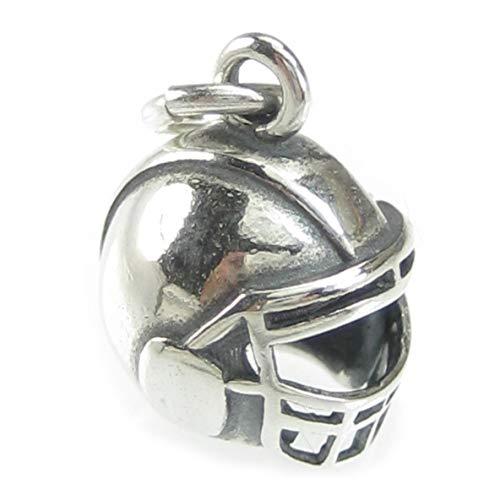 Charm-Anhänger aus 925er-Sterlingsilber, Motiv: American Football Helm, 1 Stück