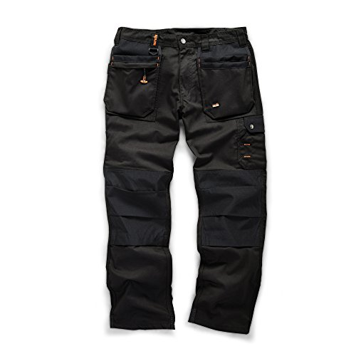 Scruffs werkbroek voor heren, Worker Plus, zwart, 28W x 29L
