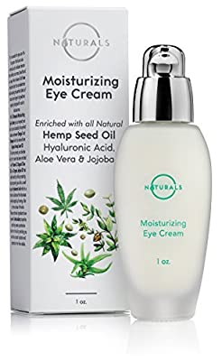 O Naturals Hydrating 72% Organic HEMP OIL Eye Cream Moisturizing Anti Aging Skincare with Hyaluronic Acid Vitamin E. Reduce Dark Circles Under Eye Bags Puffiness Fine Lines & Wrinkles. Men & Women 1oz from O Naturals