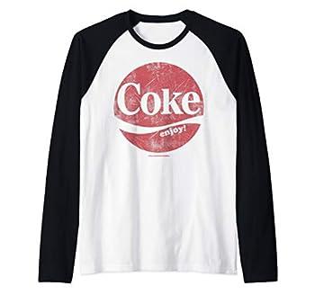 Coca-Cola Coke Enjoy Distressed Logo Raglan Baseball Tee
