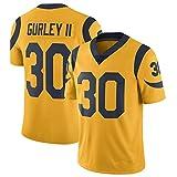 Todd GurleyLos Angeles Rams Maillot de rugby en jersey pour homme -  Jaune -  L (183/188 cm)