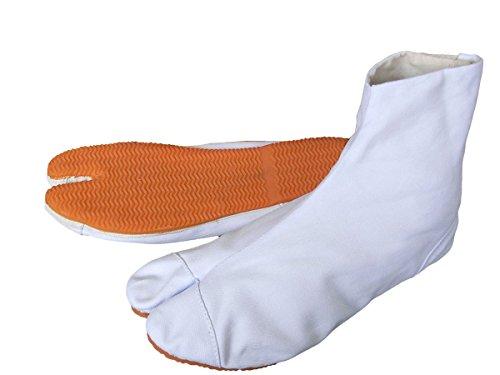 祭足袋クッション貼付(白・5枚コハゼ) 力王の祭り足袋 祭り地下足袋 (27.0cm)