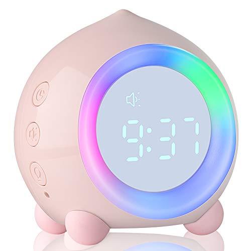 Despertador digital para niños con luz para despertar Despertador inteligente con entrenamientode sueñoy función de dormitar