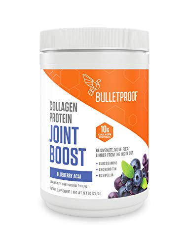 Bulletproof Joint Boost with Grass-fed Collagen Peptides, Glusosamine, Chondroitin to Support Healthy Joints. Boswellia to Support Healthy Inflammation Response, Keto and Paleo Friendly (9.4 OZ)