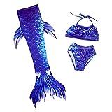 SQZQ Pinne da Nuoto, Costume da Bagno New Mermaid Costumi da Bagno per Bambini Costumi da Bagno Costume da Sirena Coda può Essere equipaggiato con Attrezzatura da Nuoto alla Caviglia,A,L