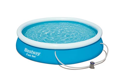 Bestway Round Kids Inflatable Paddling Pool with Filter Pump, Fast Set, 12 ft