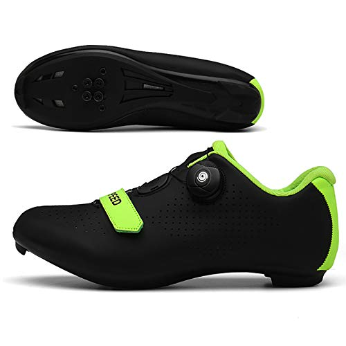 Miwaimao New 2021 Pro Road Bike Shoes for Spin, Road Bike Cycling, Cleats MTB Cycle Shoes black-41