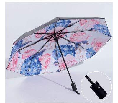 ZGMMM Regenschirme Regen Frauen Sunny and Rainy Umbrellas Flower Black Umbrella Für Lady Anti-UV-SonnenschutzB-Stil