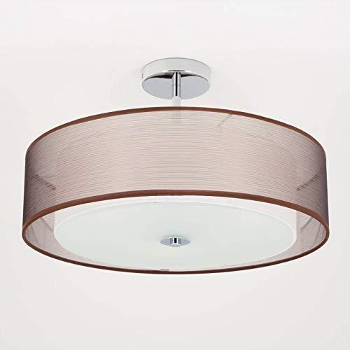 Lindby Deckenlampe 'Pikka' (Modern) in Braun aus Textil u.a. für Wohnzimmer & Esszimmer (3 flammig, E27, A+, inkl. Leuchtmittel) - Deckenleuchte, Lampe, Wohnzimmerlampe