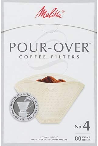 Melitta #4 Pour-Over shop Cone Coffee Atlanta Mall Filters 80 Beige Pack Count o