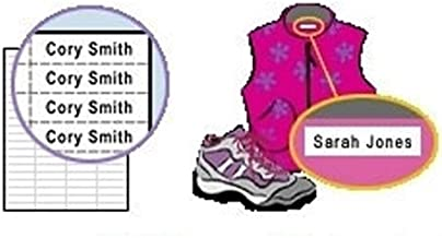 Iron On Clothing Labels - Personalized Name Tags for Clothes (100 Labels)