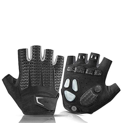 BSDASH Cycling Gloves MTB Road Gloves Mountain Bike Half Finger Gloves Summer Bicycle Gym Fitness Non-Slip Sports Gloves S169BK XXL