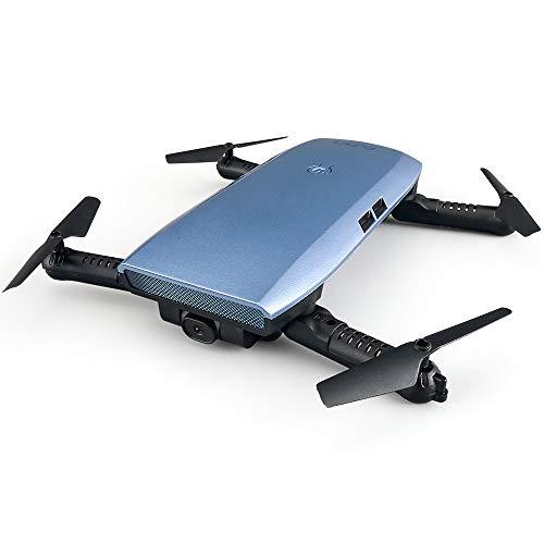 FPV Drohne Mit Kamera HD 720P, WiFi Video Live übertragung Mini RC Quadrocopter Outdoor, Gravitationssensor, Flugbahnflug, App Steuern, Ferngesteuertes Drohne, Geeignet für Anfänger und Profis,Blue