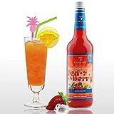 Red Berry - Cocktail Sirup PreMix für 17 Mixgetränke alkoholfrei   Flasche 0,7l mit allen Zutaten   Einfach mit Orangensaft mischen, fertig